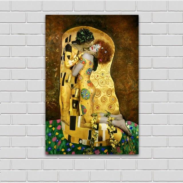 Gustav Klimtz The Kiss Handpainted Oil Painting