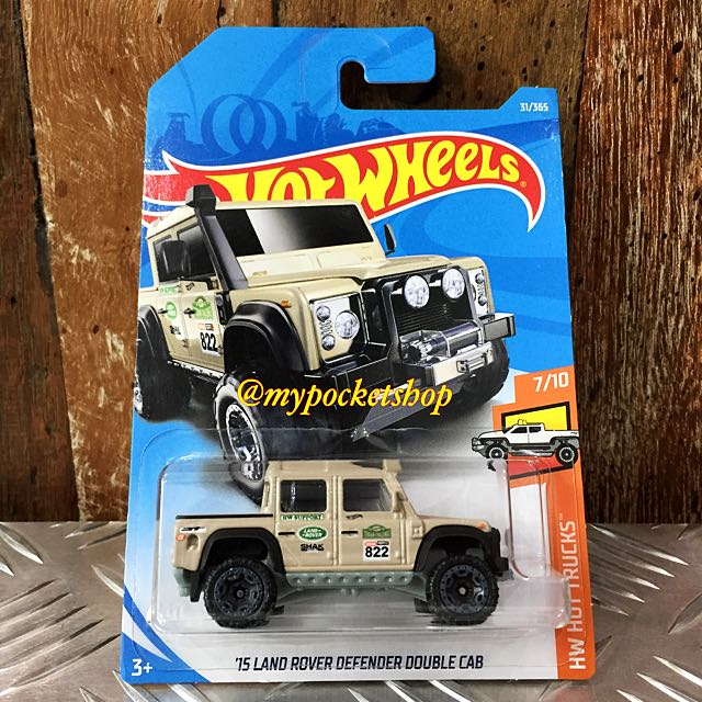 hot wheels '15 land rover defender double cab, toys & games, bricks