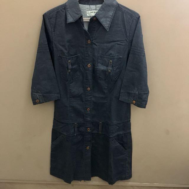 Ichi Soft Denim Dress