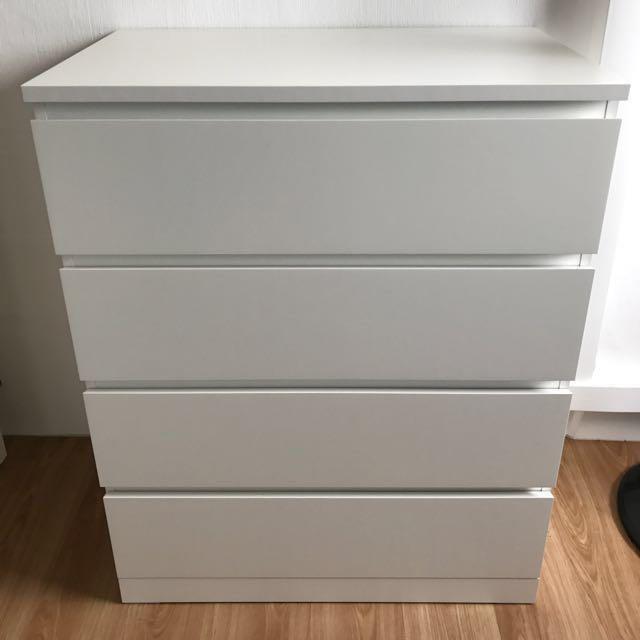 Ikea Malm 4 Drawer Chest White 31 1 2x39 3 8 Furniture