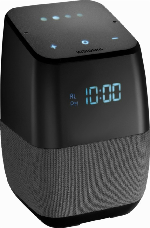 $30!!!! This is selling for $49.99 at best buy! Insignia™ - Bluetooth Speaker with the Google Assistant built-in and Digital LED Display - Gray