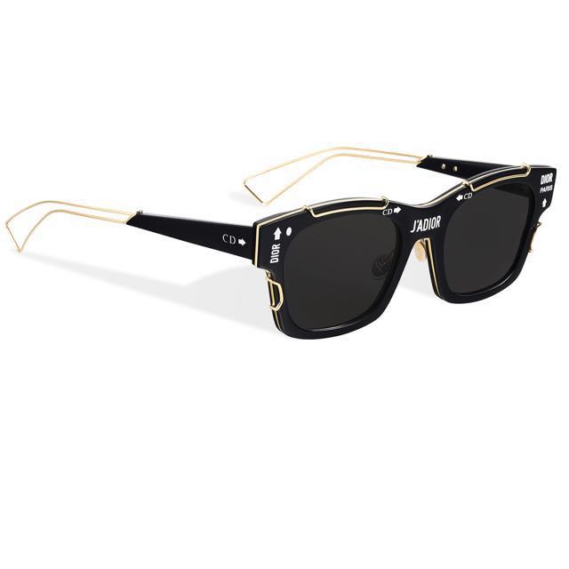 53231c1f48aec J ADior . Christian Dior Sunglasses Black Gold-tone.Authentic ...