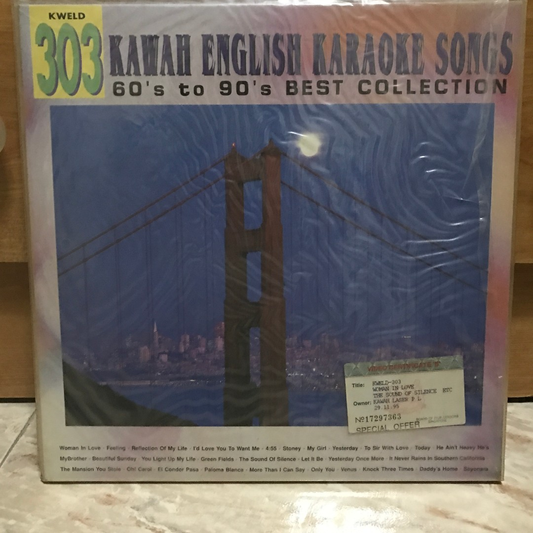 Kawah English Karaoke Songs - 60's to 90's Best Collection - KWELD 303  Laser Disc LD