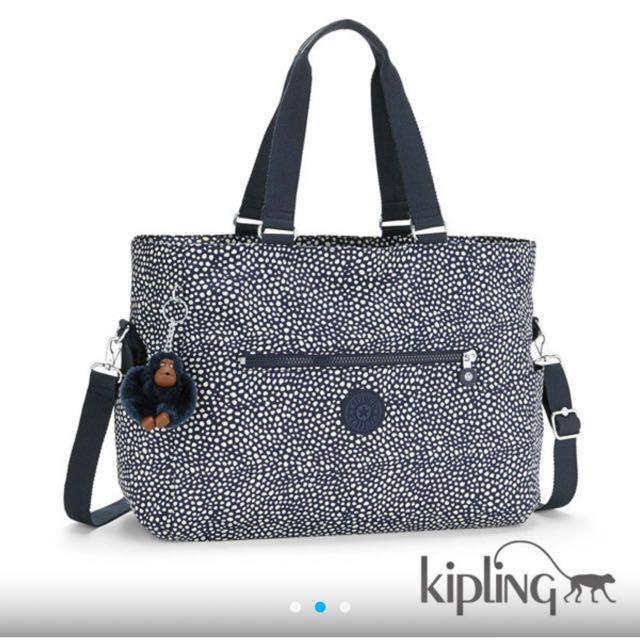 Kipling深藍白點媽媽包