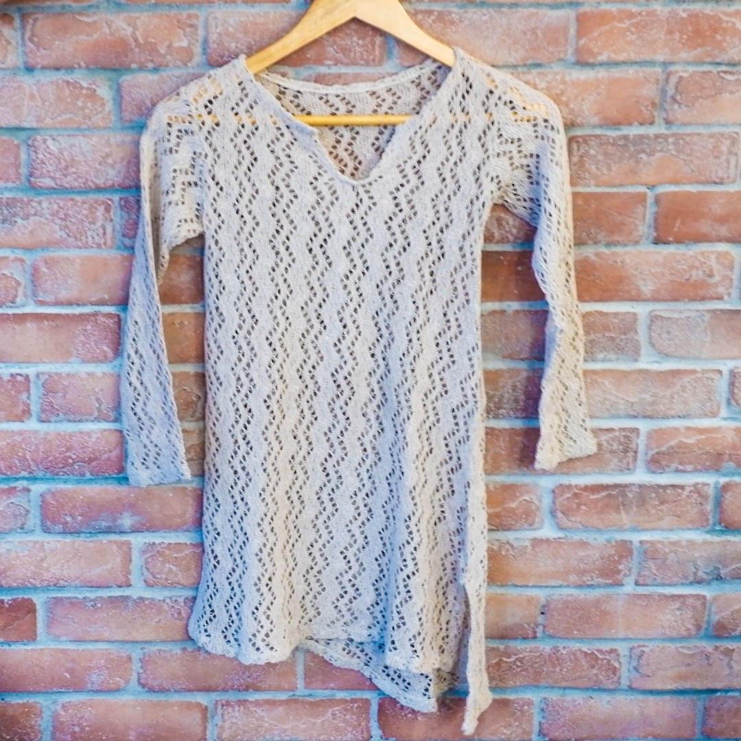 Knitted Beach Cover Top