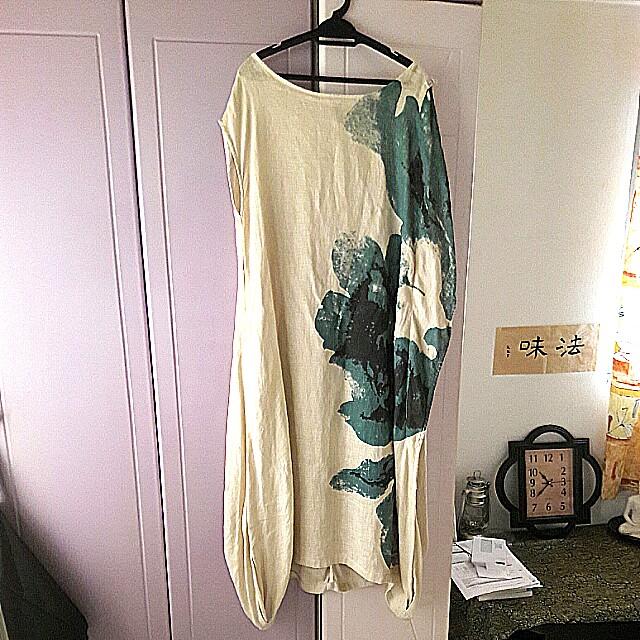Linen elegant long dress