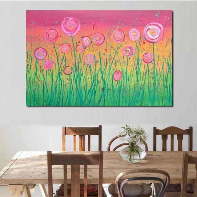 Lollipop Flowers Handpainted Oil Painting