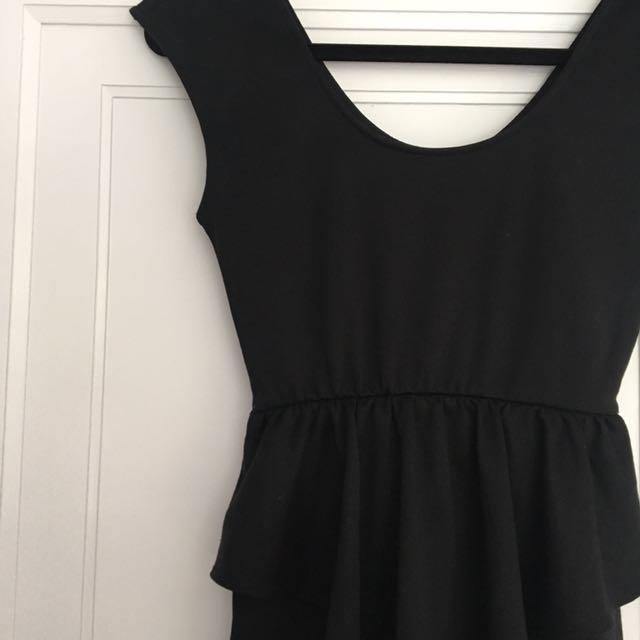 Macy's Black Peplum Dress