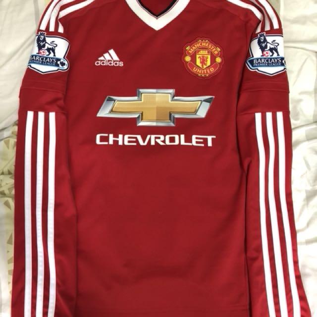 sale retailer 00de0 77c16 Manchester United 2015/16 Home Kit long sleeve with Memphis nms