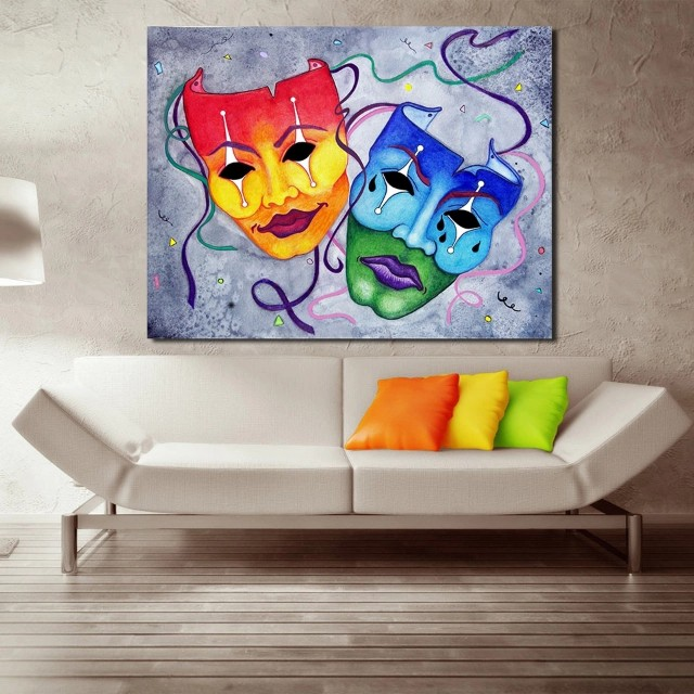 Masquerade Masks Handpainted Oil Painting