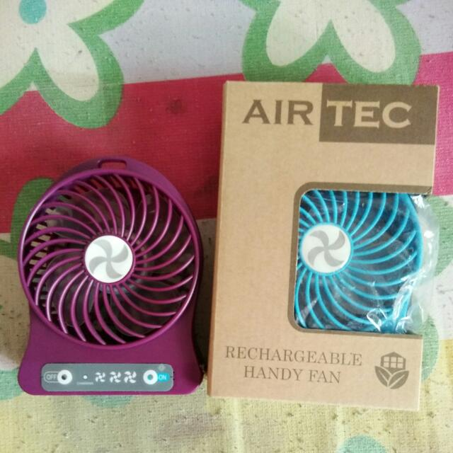 Mini Rechargeable Fans Get All for 100 pesos :)