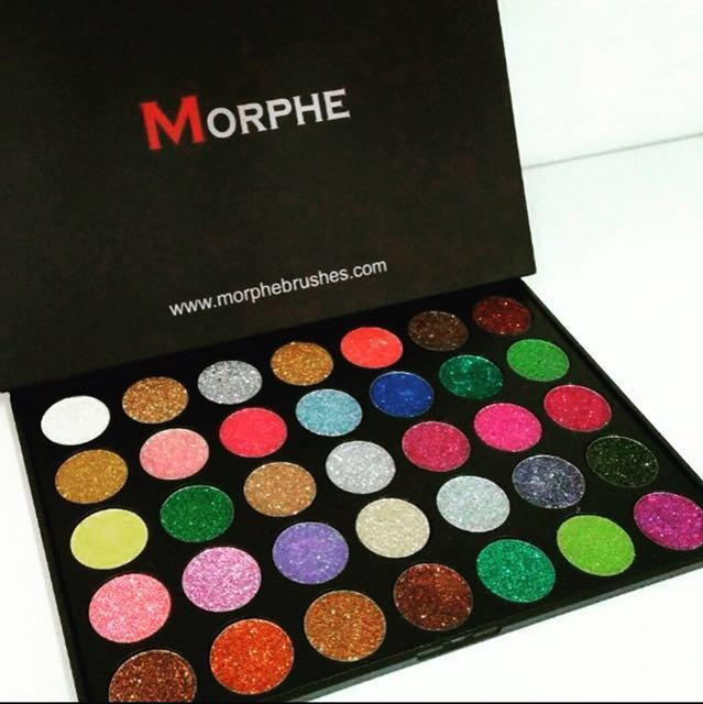Morphe Pressed Glitter Eyeshadow Palette Health Beauty
