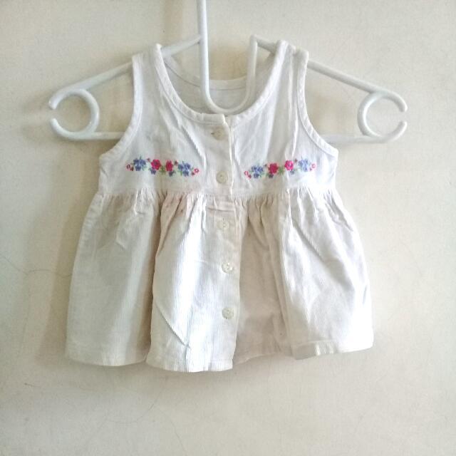 Mothercare White Flower Dress