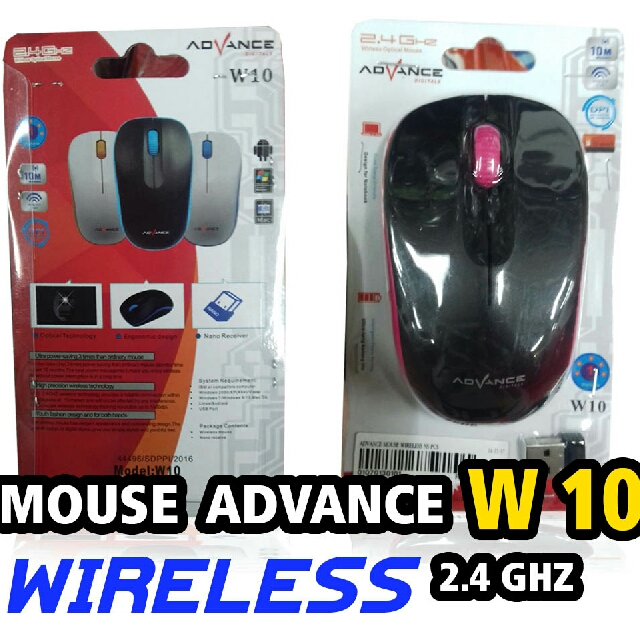 MOUSE WIRELESS MURAH MERK ADVANCE TERLARIS