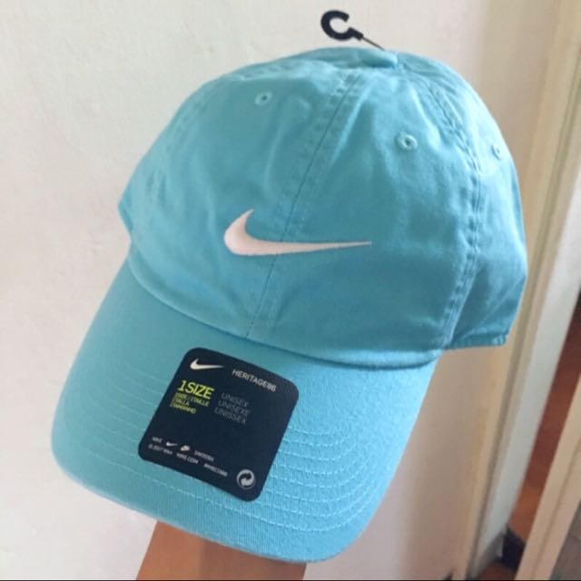 NIKE淺藍老帽