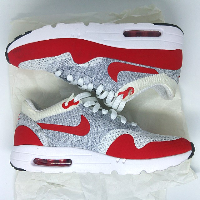 5fef01b802 Nike Air Max 1 Ultra Flyknit (OG Red/White/Grey) Size US 8.0 UK 7.0 ...