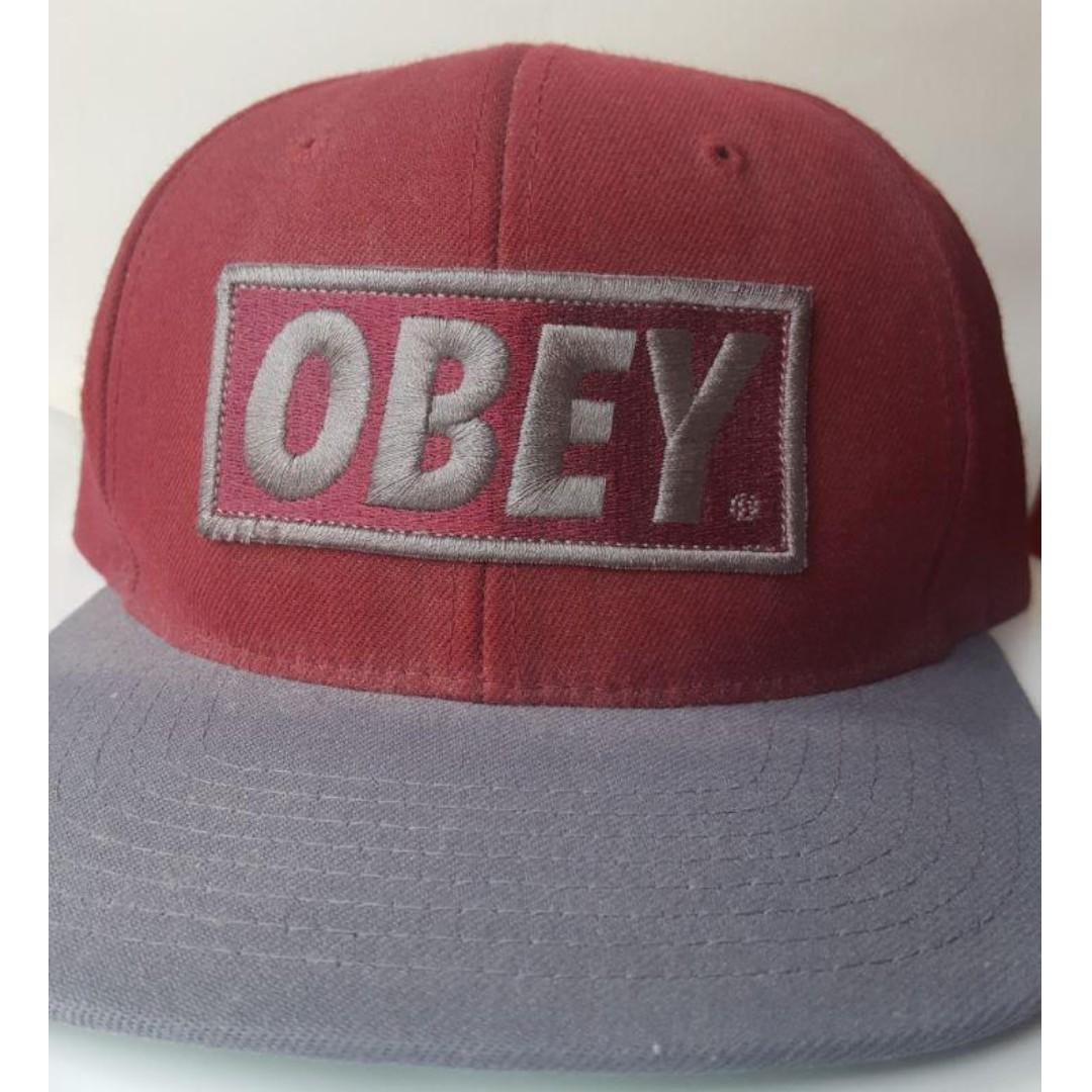 3fd238104 OBEY ORIGINAL SNAPBACK (BURGUNDY)