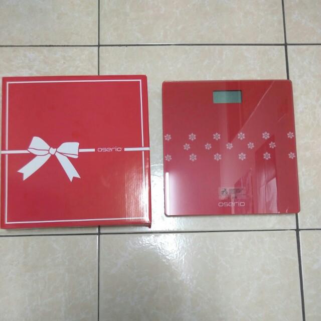 OSERIO 歐瑟若數位體重計 體重機 BNG-207 禮物盒包裝 聖誕紅 全新 現貨 減肥必備 健身 雕塑 量體重