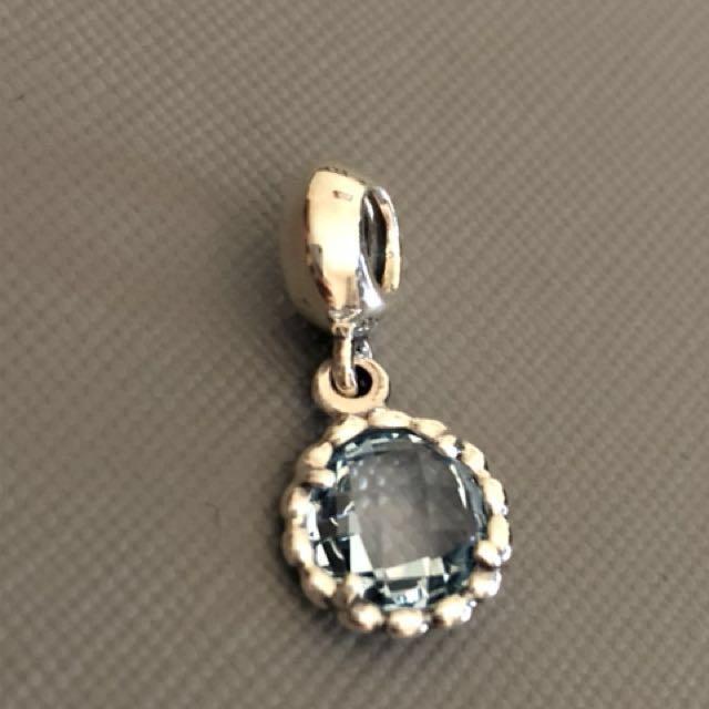 Pandora Silver Topaz Hanging Charm Brand New