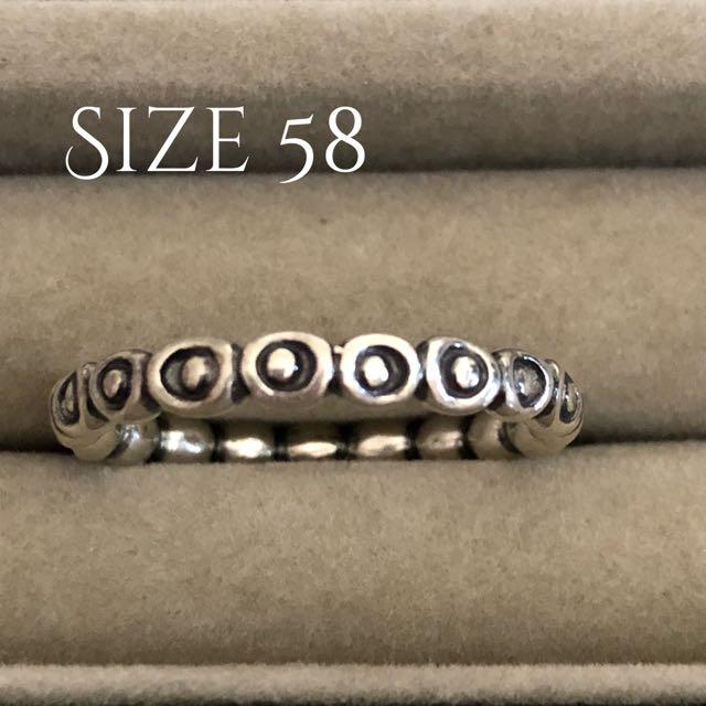 Pandora Size 58 Ring of Circles Brand New