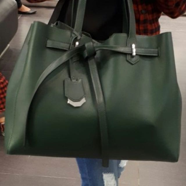 Pedro draw string bag - emerald green