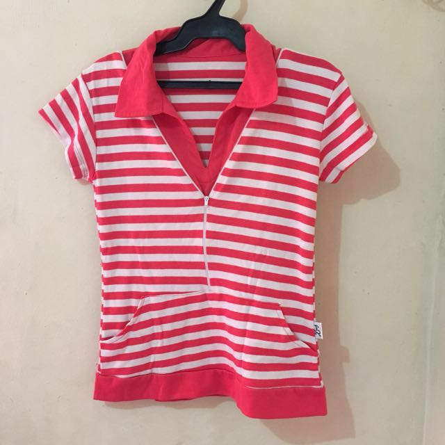 Pink Stripe Polo shirt