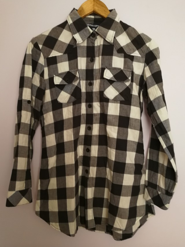 Plaid balck&white classic look