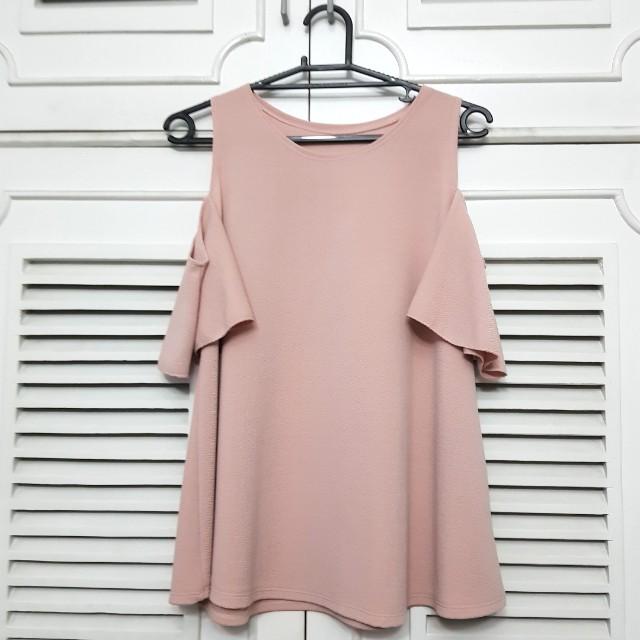 Plus size Cold Shoulder Pink Bakuna Top