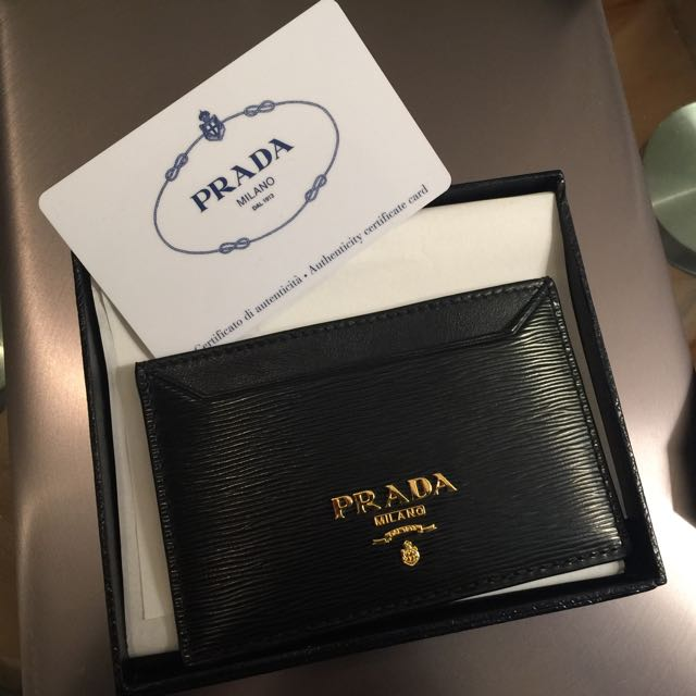 Prada Business Card Holder Luxury Accessories On Carousell