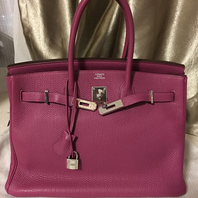 Price Reduced!! Hermes Birkin 35 Tosca Togo Leather 7c7ac95a0
