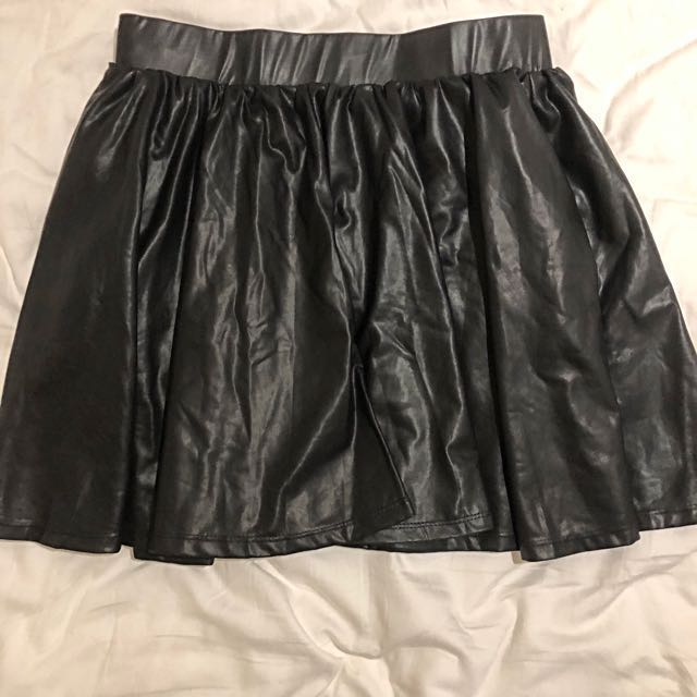 c44a4561e Princess Polly Black Leather Skirt Size 10 RRP $70, Women's Fashion ...