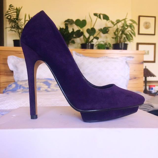 Purple Velvet Pumps
