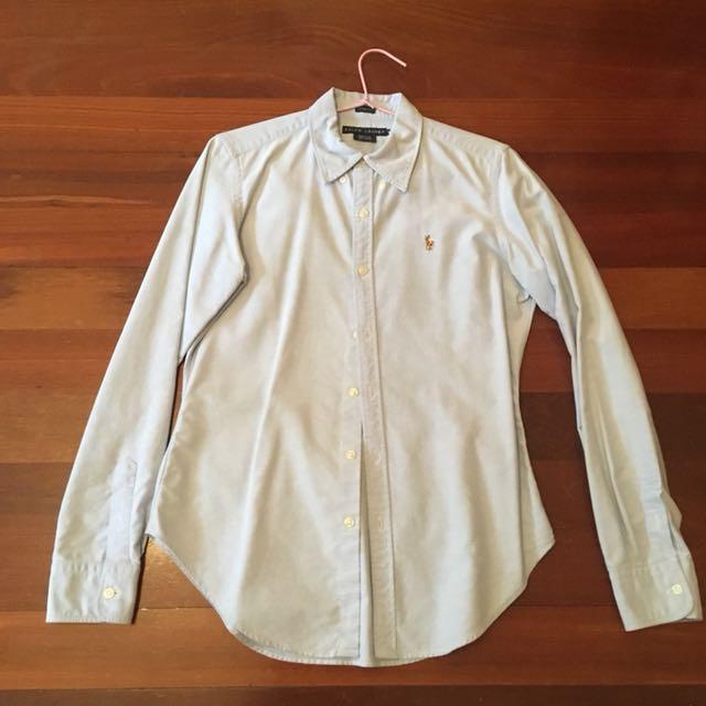 Ralph Lauren Blue Cotton Shirt