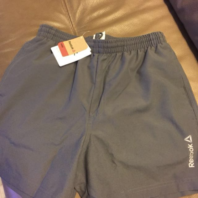 21563f510 Reebok men's running shorts size small. Black and grey colour only ...