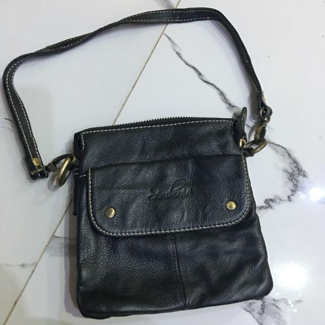 SEMBONIA leather mini black bag