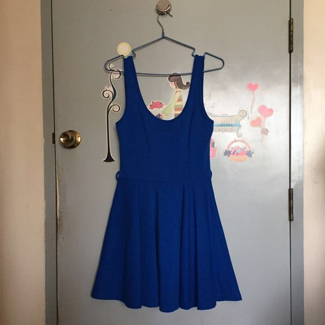Skater Dress (electric Blue)