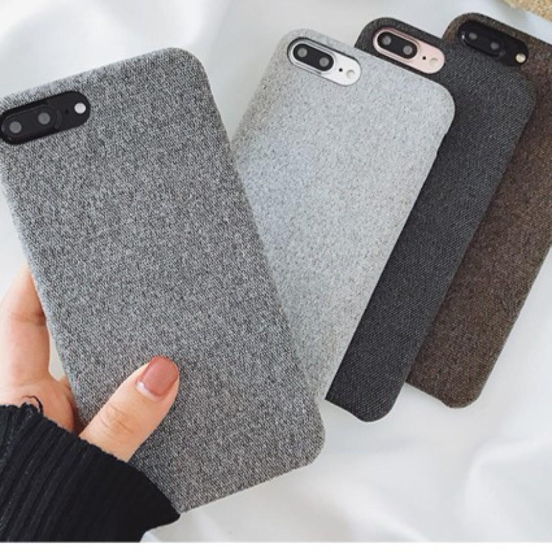 (Soft) Linen Fabric iPhone Case