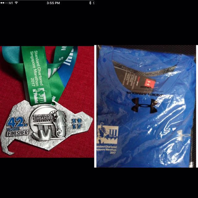 Standard Chartered Marathon 2017 Running Tee & Finisher Medal
