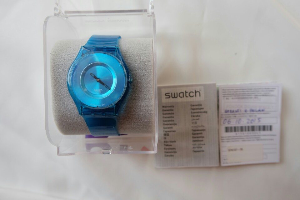 Swatch Blue Trasnsparant