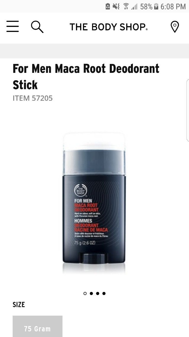 The Body Shop Maca Root Deodorant Stick