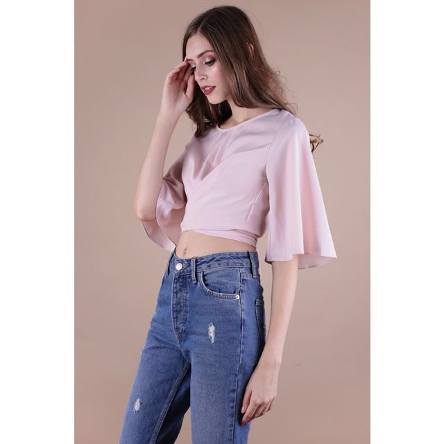 The Tinsel Rack Lena Flare Sleeve Top (WHITE)