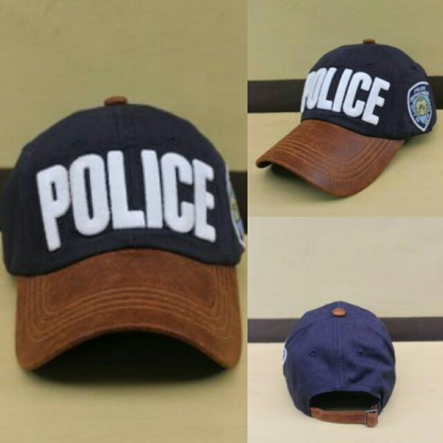 Topi Baseball Police Navy, Men's Fashion, Men's Accessories, Caps & Hats on Carousell