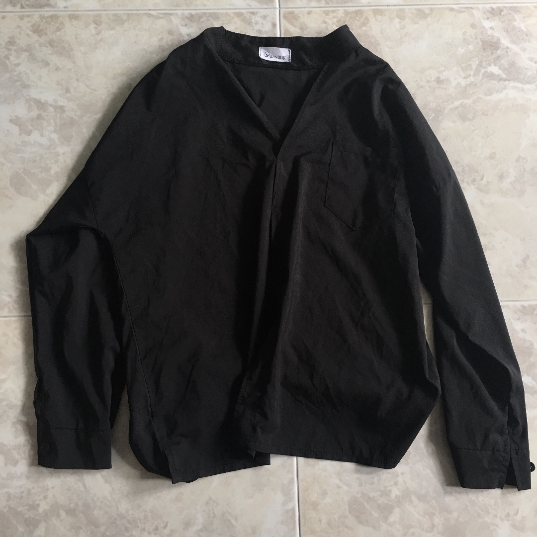 863841c08d32 Ulzzang oversized black top