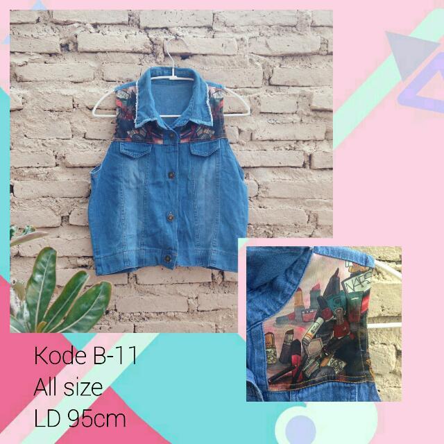 Vest Jeans Dark Blue