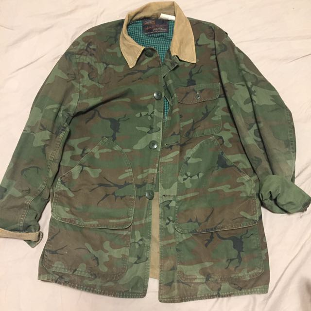 Vintage 獵人軍綠外套