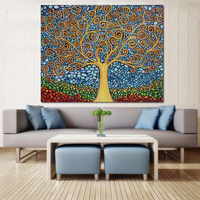 Wishing Tree Handpainted Oil Painting