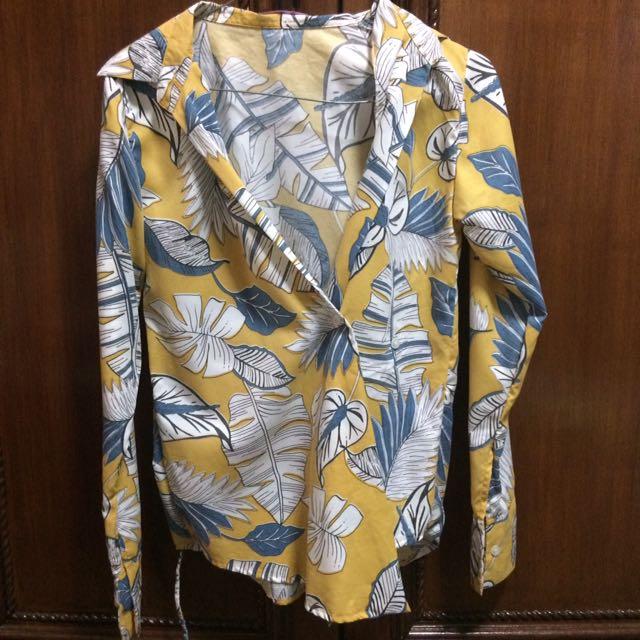Yellow flower kimono
