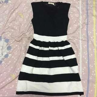 Fond Black & White Office Dress