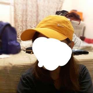 Nike 橘黃小logo老帽