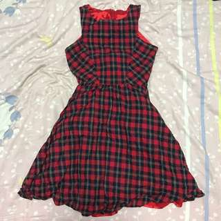 Red Checkered Dress | Size M